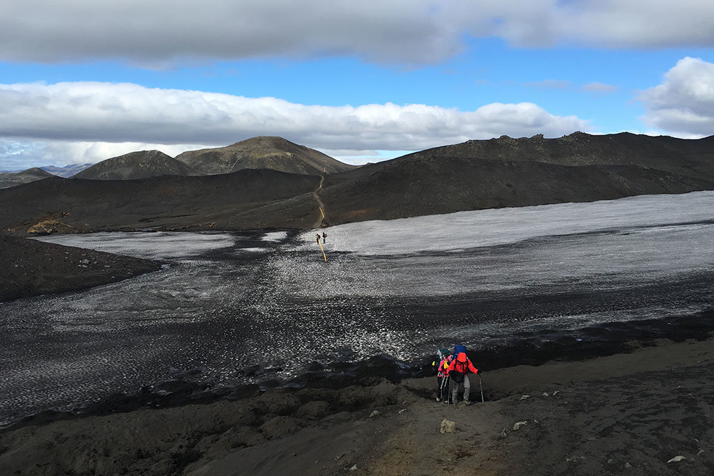 Volcanic moraine
