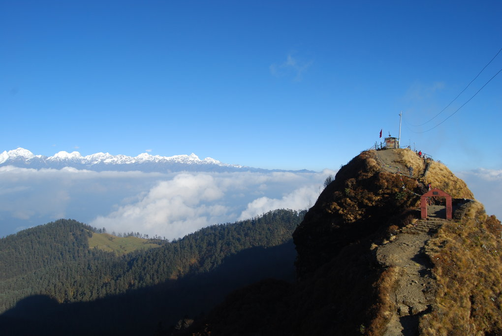 The rocky spire of Kalinchowk (3790m)