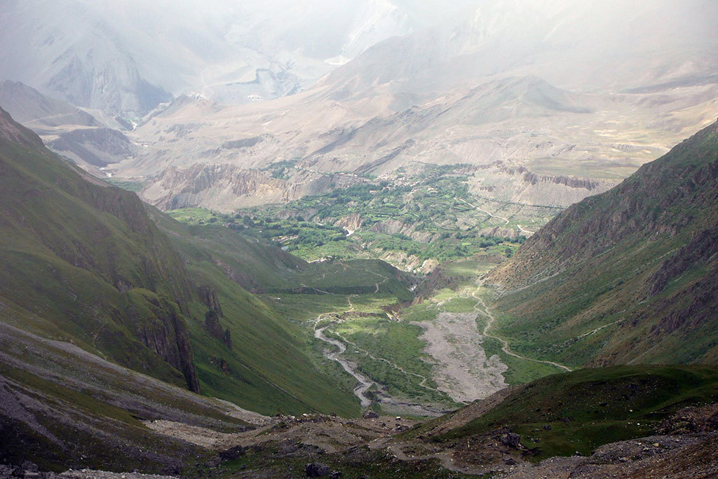 Annapurna valley in monsoon