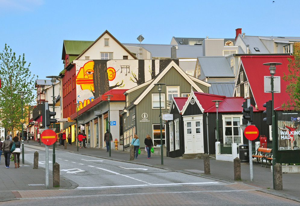 Explore the streets of downtown Reykjavik