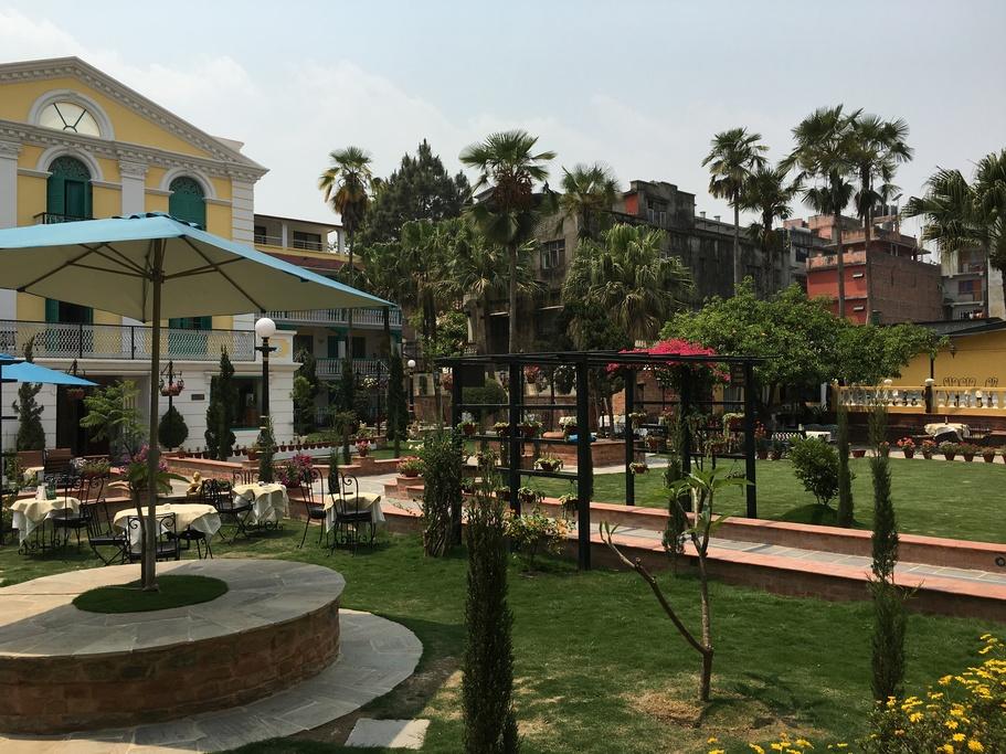 Garden at the Kathmandu Guesthouse