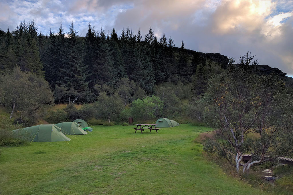 Campgrounds at Thórsmörk