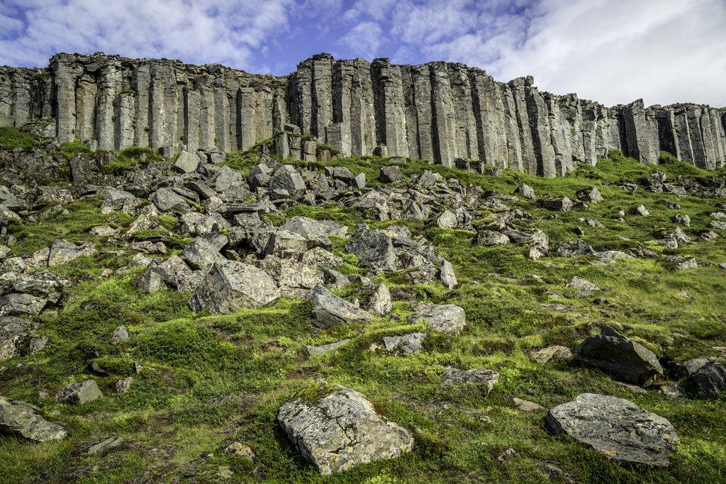 basalt columns at Gerðuberg