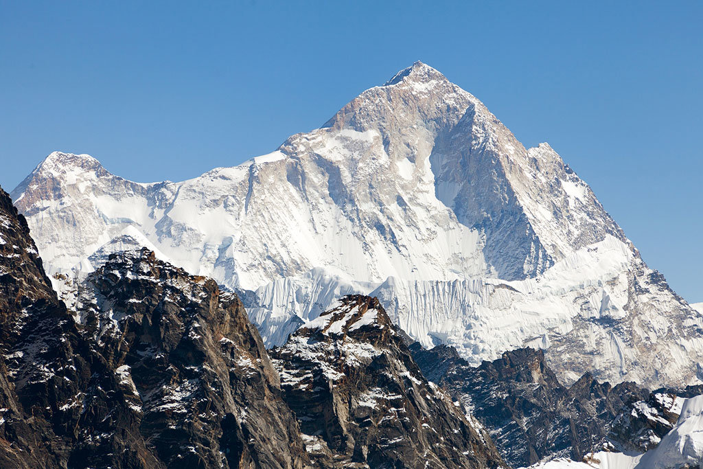 Mt. Everest as seen from Renjo La