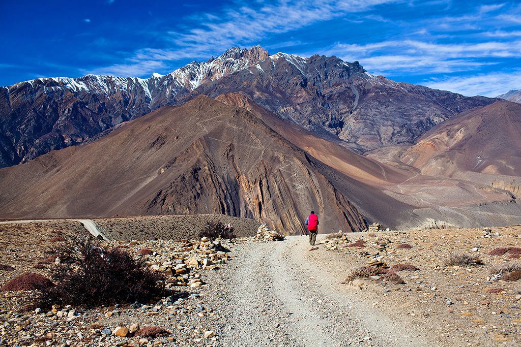 Trekking between Muktinath and Jomsom