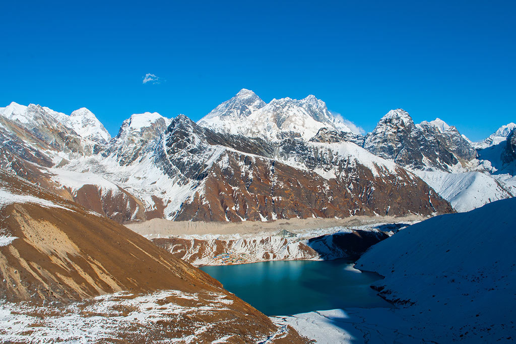 View from Renjo la pass, looking toward Everest