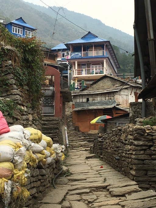 Village in the Annapurna region of Nepal