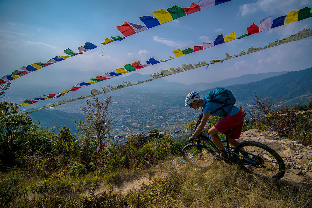 Mountain biking around Kathmandu