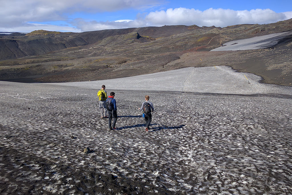 Snowfields in Iceland