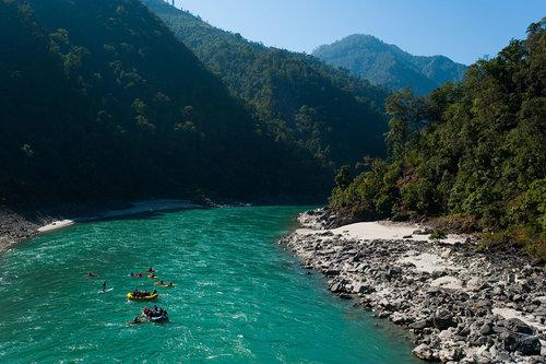 Rafting down the Karnali River (Photo credit: Alex Treadway)